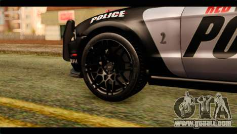 NFS Rivals Ford Shelby GT500 Police for GTA San Andreas back left view