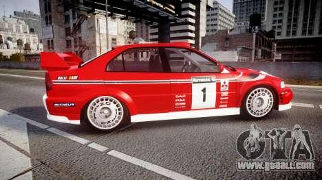 Mitsubishi Lancer Evolution VI 2000 Rally for GTA 4 left view