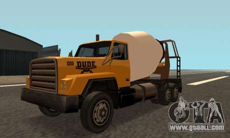 Cement Truck Fixed for GTA San Andreas left view