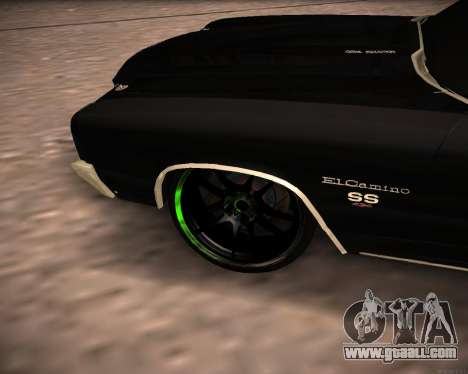 Chevrolet El Camino SS Green Hornet for GTA San Andreas right view