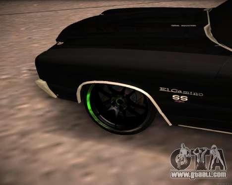 Chevrolet El Camino SS Green Hornet for GTA San Andreas right view