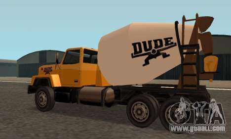 Cement Truck Fixed for GTA San Andreas back left view