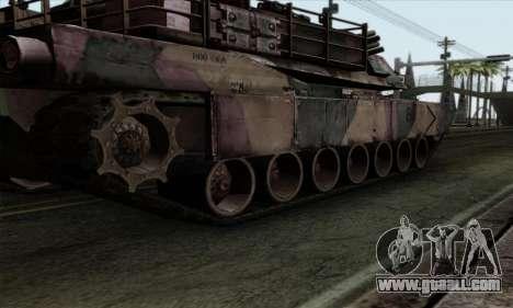 M1A2 Abrams Autumn Camo for GTA San Andreas back view