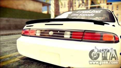 Nissan Silvia S14 Umi Sonoda Paintjob Itasha for GTA San Andreas back view