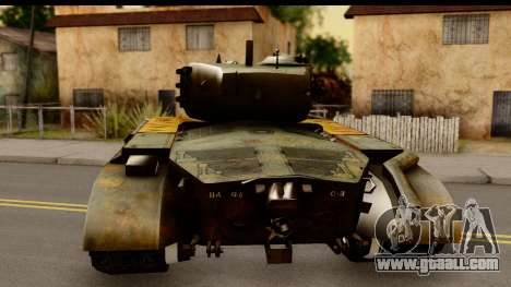 M26 Pershing Tiger for GTA San Andreas back left view
