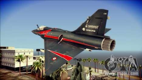 Dassault Mirage 2000-10 Black for GTA San Andreas left view