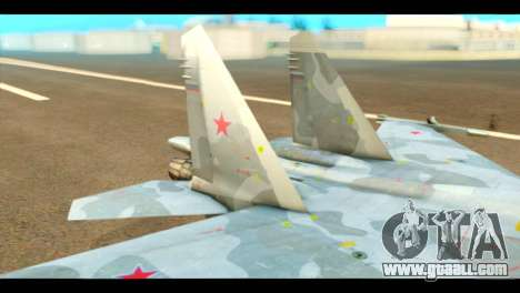 SU-37 Terminator Russian AF Camo for GTA San Andreas back left view
