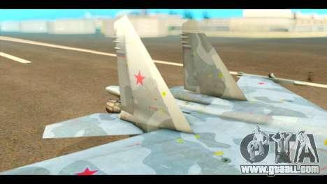 SU-37 Terminator Russian AF Camo for GTA San Andreas back left view