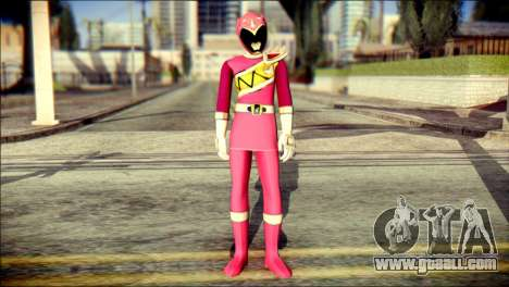 Power Rangers Kyoryu Pink Skin for GTA San Andreas