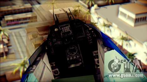 Mitsubishi F-2A JASDF v3.0 for GTA San Andreas back view