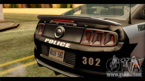 NFS Rivals Ford Shelby GT500 Police for GTA San Andreas back view