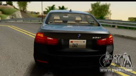 BMW 335i Coupe 2012 for GTA San Andreas side view