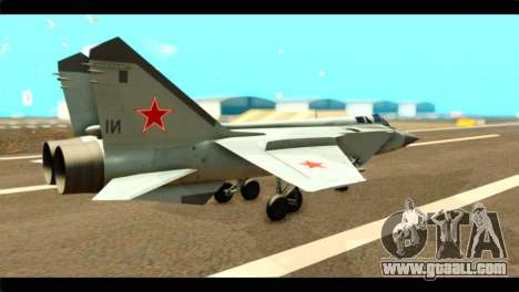 MIG-31 Soviet for GTA San Andreas left view