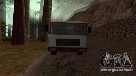 Roman Bus Edition for GTA San Andreas back left view