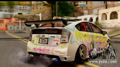 Toyota Prius Hybrid Eri Ayase Love Live Itasha for GTA San Andreas left view