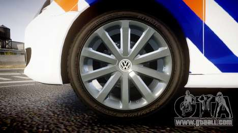 Volkswagen Golf Mk6 Dutch Police [ELS] for GTA 4 back view