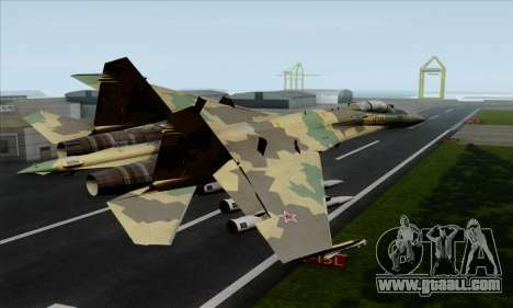 SU-35 Flanker-E ACAH for GTA San Andreas left view