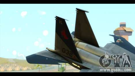 F-15C Eagle for GTA San Andreas back left view