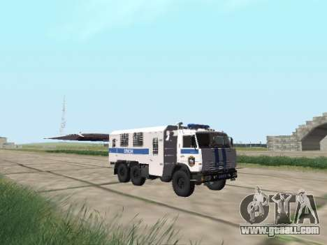 KamAZ-43114 OMON for GTA San Andreas