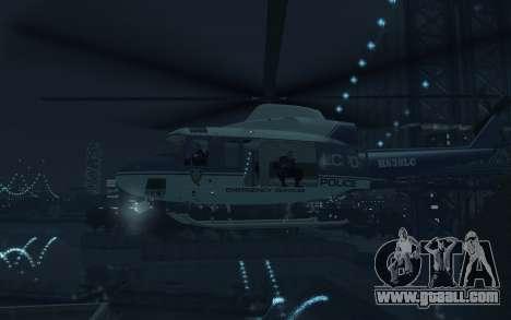 GTA III Police Valkyrie HD for GTA 4 back view