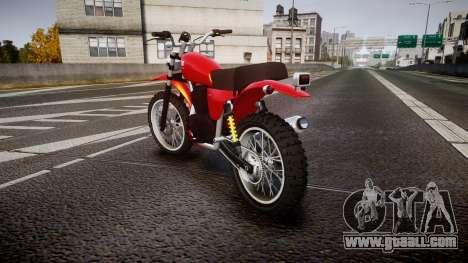 GTA V Dinka Enduro for GTA 4 back left view