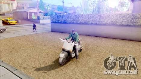 Piaggio Vespa for GTA San Andreas