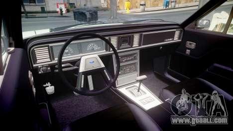 Ford LTD LX 1985 v1.6 for GTA 4 inner view