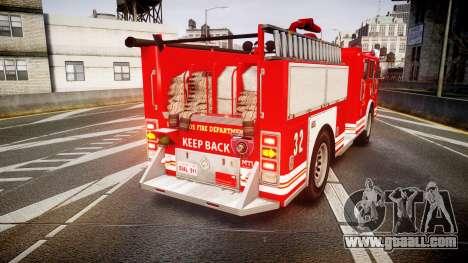 GTA V MTL Firetruck for GTA 4 back left view