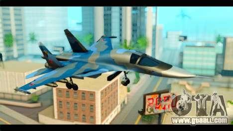 SU-34 Fullback Russian Air Force Camo Blue for GTA San Andreas
