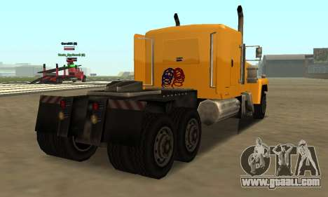 PS2 Tanker for GTA San Andreas back left view