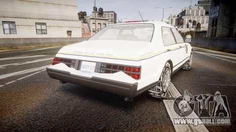 GTA V Albany Police Roadcruiser for GTA 4 back left view