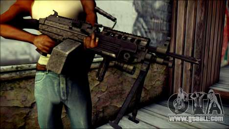 Gold M60 with Custom GTA 5 Icon for GTA San Andreas third screenshot
