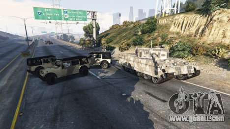 GTA 5 Soldiers with 5 star fourth screenshot