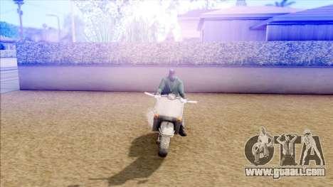 Piaggio Vespa for GTA San Andreas back left view