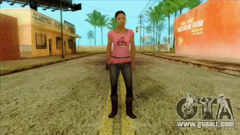 Rochelle from Left 4 Dead 2 for GTA San Andreas