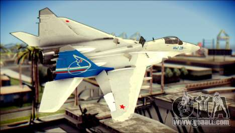 MIG-29 Fulcrum Reskin for GTA San Andreas left view