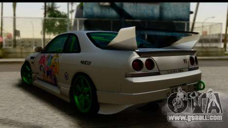 Nissan Skyline R33 for GTA San Andreas left view
