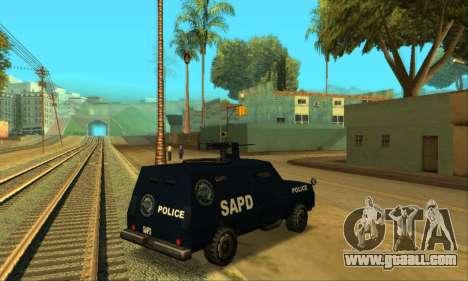 Beta FBI Truck for GTA San Andreas back left view