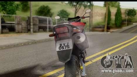 Honda XRE 300 v2.0 for GTA San Andreas back view