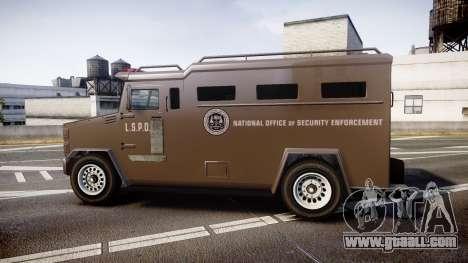 GTA V Brute Police Riot [ELS] skin 1 for GTA 4 left view