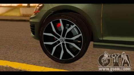 Volkswagen Golf Mk7 2014 for GTA San Andreas back left view