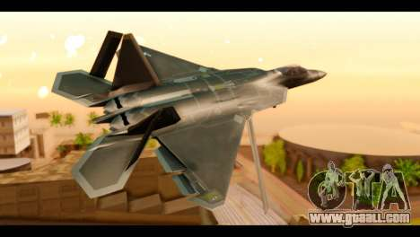 F-22 Raptor Flash for GTA San Andreas left view