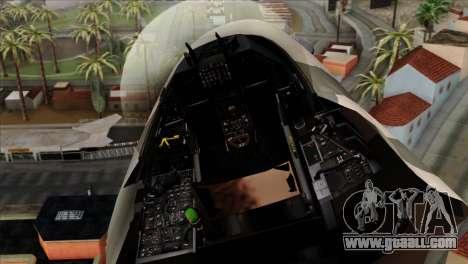 F-16C Top Gun for GTA San Andreas back view