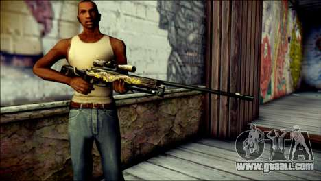 AWM Infernal Dragon CrossFire for GTA San Andreas third screenshot