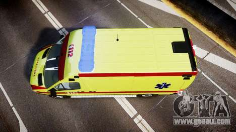 Mercedes-Benz Sprinter 311 cdi Belgian Ambulance for GTA 4 right view