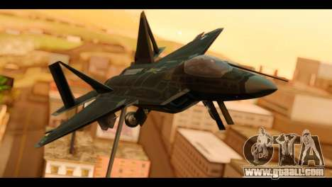 F-22 Raptor Flash for GTA San Andreas back view