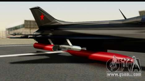 MIG-21F Fishbed B URSS Custom for GTA San Andreas right view