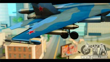 SU-34 Fullback Russian Air Force Camo Blue for GTA San Andreas right view