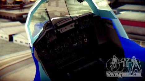 Mikoyan-Gurevich MIG-29K for GTA San Andreas back view