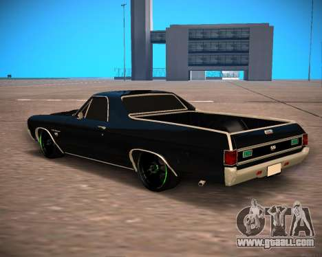 Chevrolet El Camino SS Green Hornet for GTA San Andreas back left view